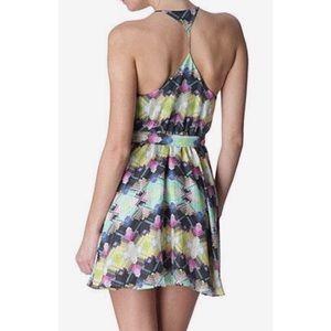 Zimmermann The Vase Geo Belted Silk Slip Dress